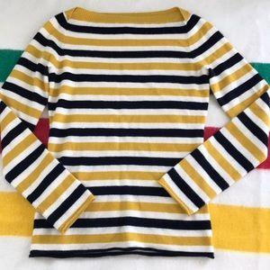 J. Crew 100% cashmere striped sweater small S
